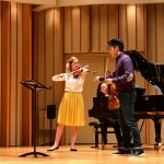 Aubree Oliverson performs for Ray Chen