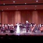 Aubree Oliverson performs with the San Fernando Symphony, 2018